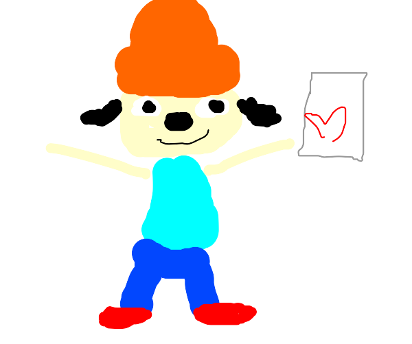 Parappa has a Valentine's card