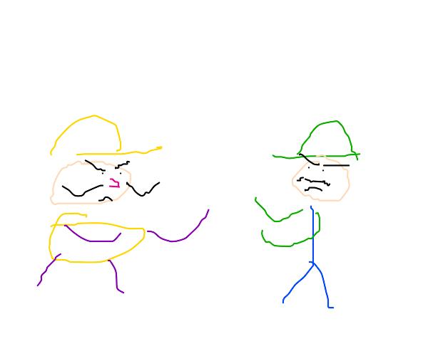 A showdown of Wario v.s Luigi