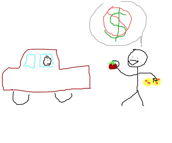 Free car wash! We use fresh squeezed tomato!