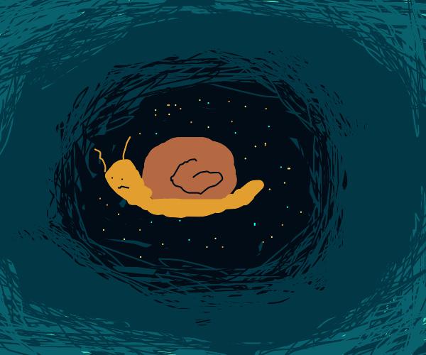 Snail gets sucked into a vortex