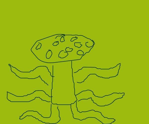 Mushroom with tentacles