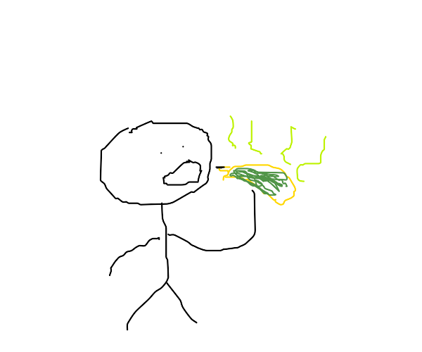 a man eats rotten banana