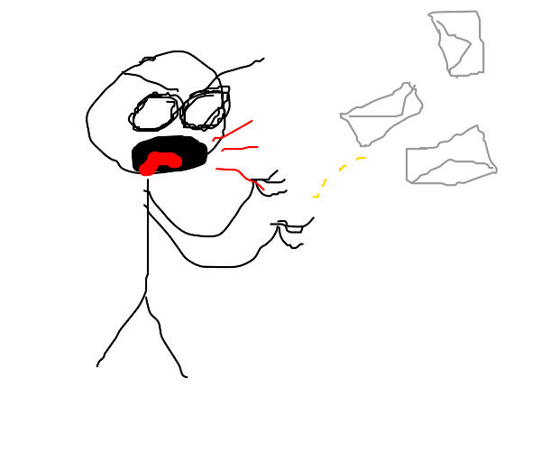 man is angry at mail