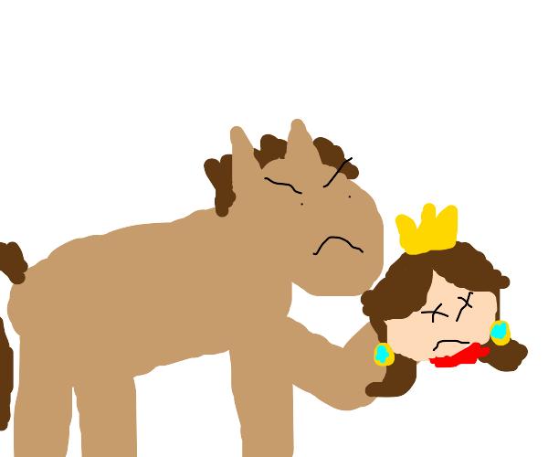 horse with daisy head