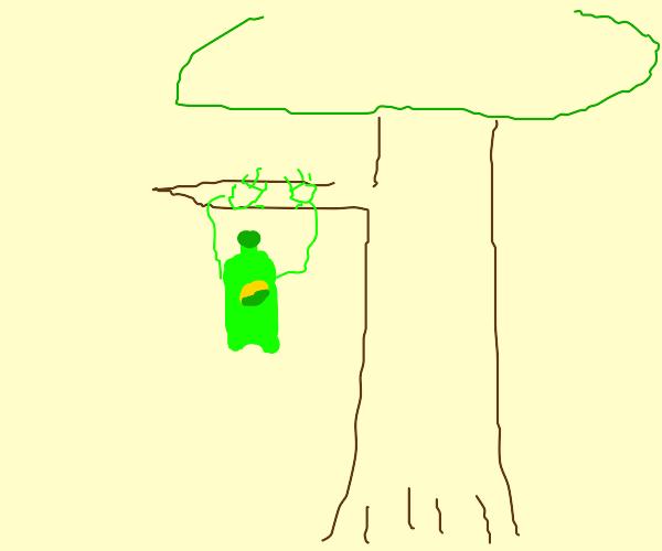 Sprite climbing trees