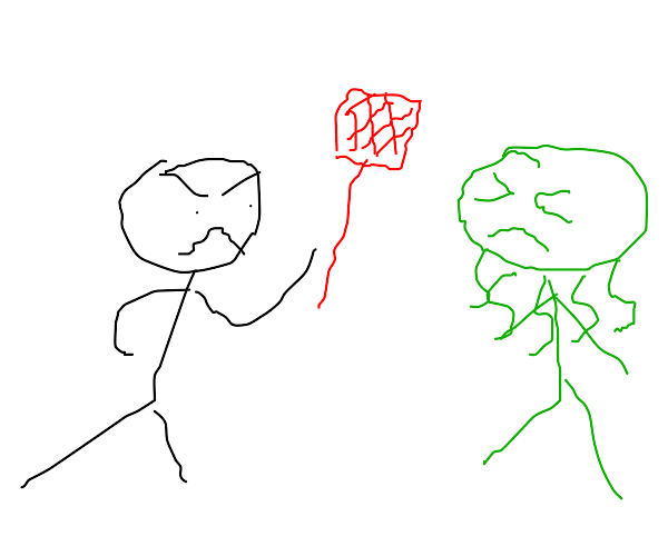 Man whacks Cthulhu with a fly swatter