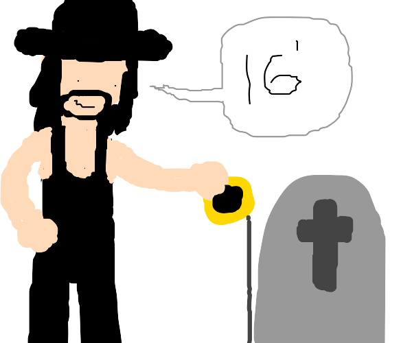 Undertaker incorrectly measures a grave