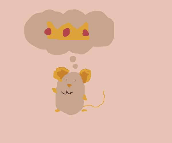 Hamster dreams of being king