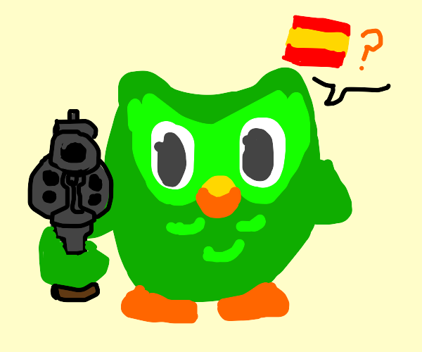 Do your Spanish or I'll pull the trigger