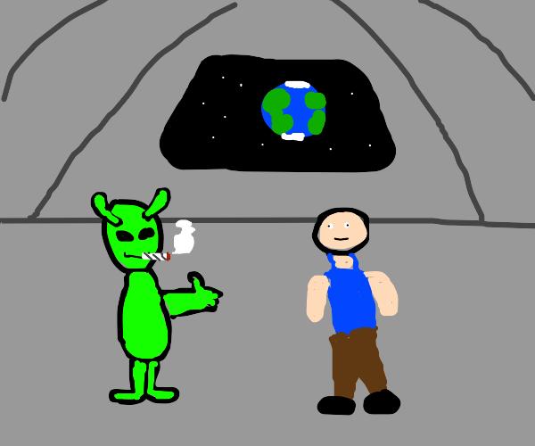 Alien apathetic towards humans