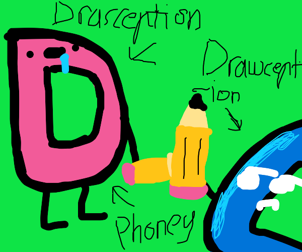 Drasception D with a pencil