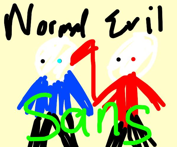 Sans and Evil Sans