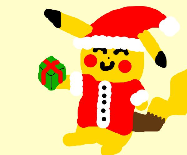 Santa Pikachu brought you a present.