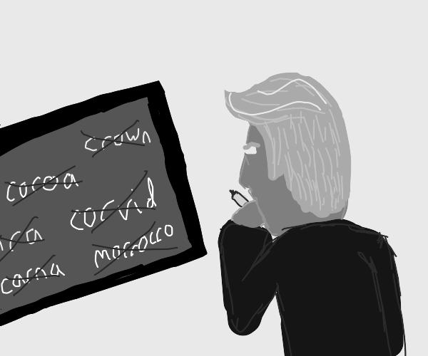 trump spells corona wrong