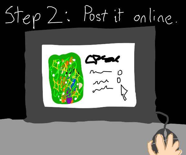 Step 1: make cringey fanart