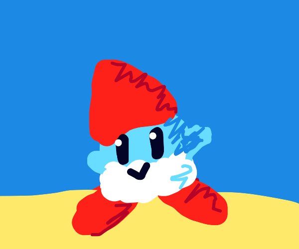 Kirby but papa smurf