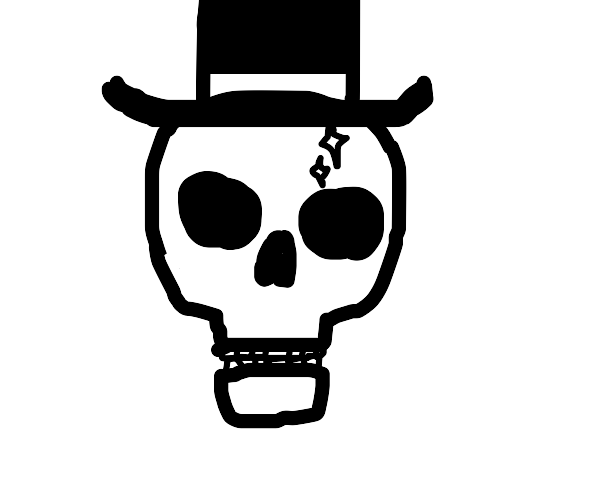Sparkly skull w tophat is very rare specimen