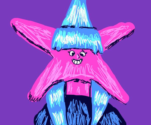 Starry-faced girl