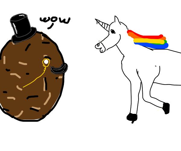 Gentleman Potato finds Unicorn