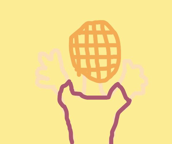 Waffle-headed schoolboy