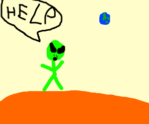 Alien screaming for help from Mars