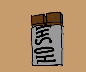A rotten hoshi chocolate bar.