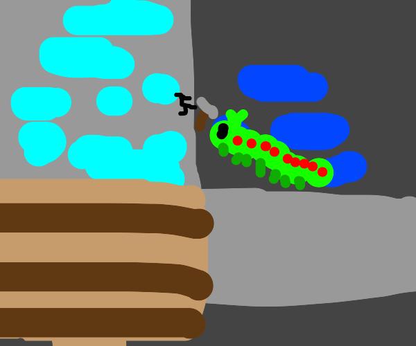 caterpillar mining diamonds in minecraft