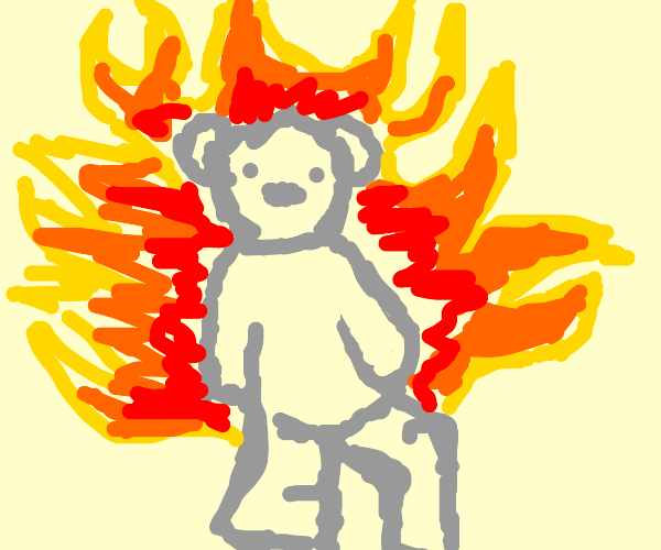 Cool grey  gummy bear is blazin
