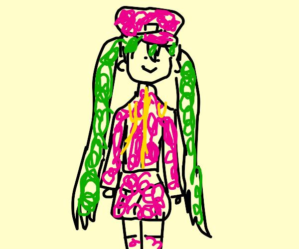 Miku wearing the outfit in senbonzakura