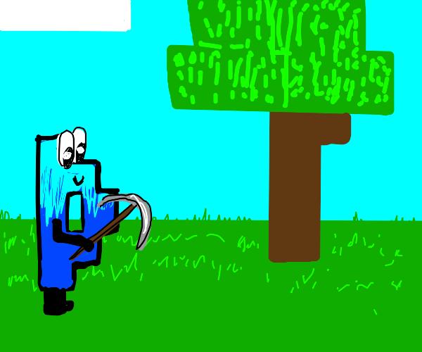drawception D as any character. Minecraft