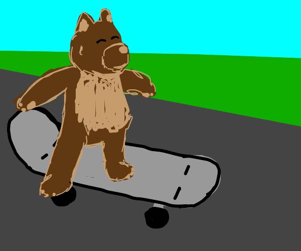 a skating bear