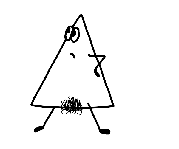 triangle with pubes