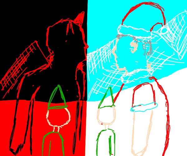 slave trade ft. Santa, Elves, and Satan
