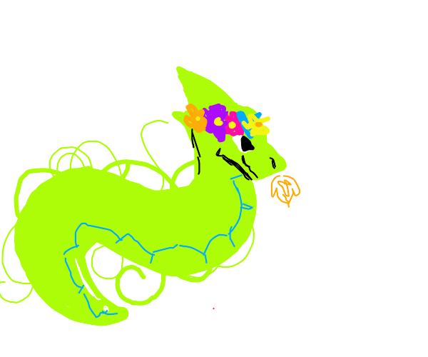 floral dragon serpent