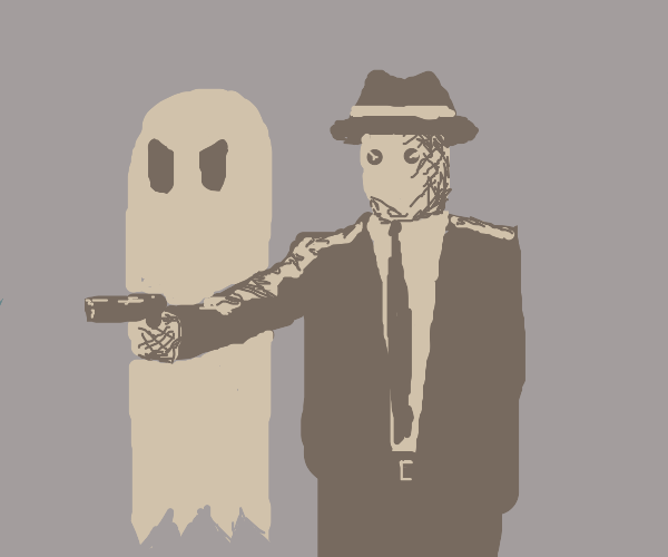 Film Noir starring scarecrow & ghost