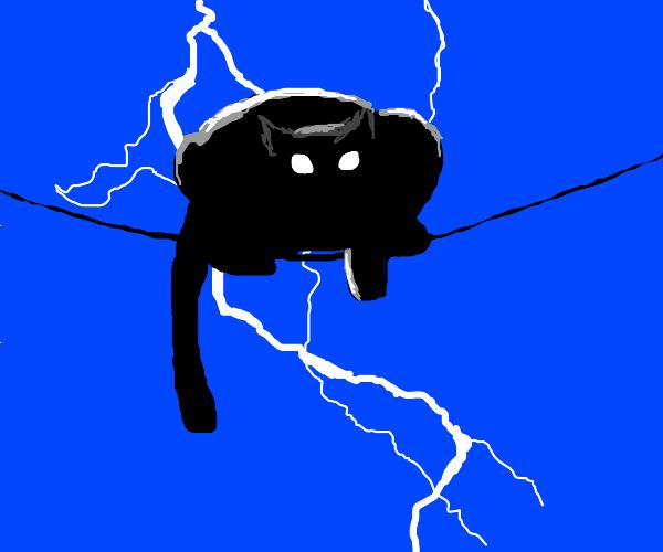 lightning cat as batman
