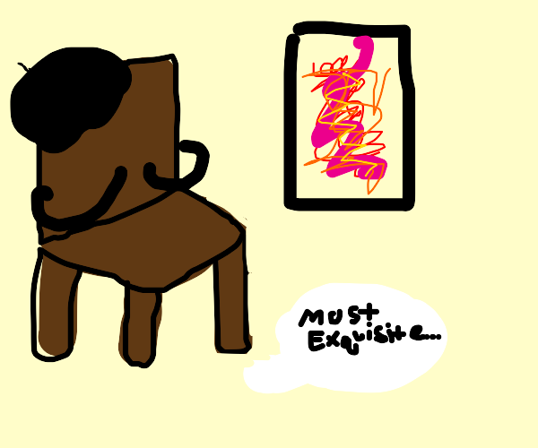 French chair is impressed by scribble paintin