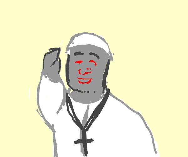 Robot Pope says Mass