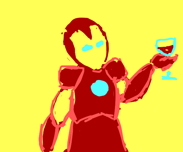 iorn man holding wine