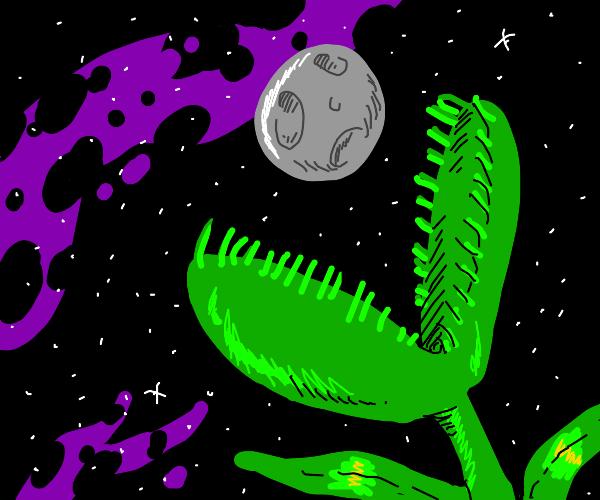 The Moon gets eaten by giant Venus flytrap