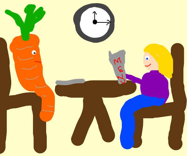 A lunch with a carrot