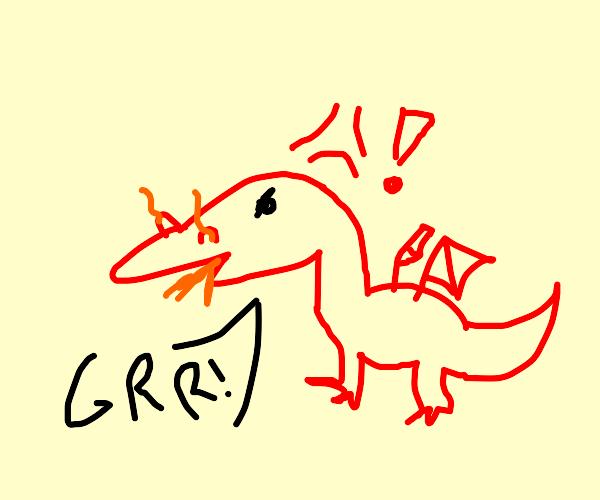 An angry Dragon