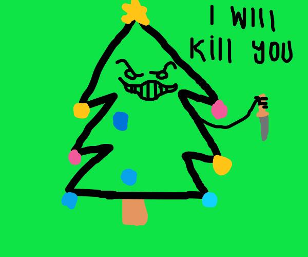 murderous christmas tree