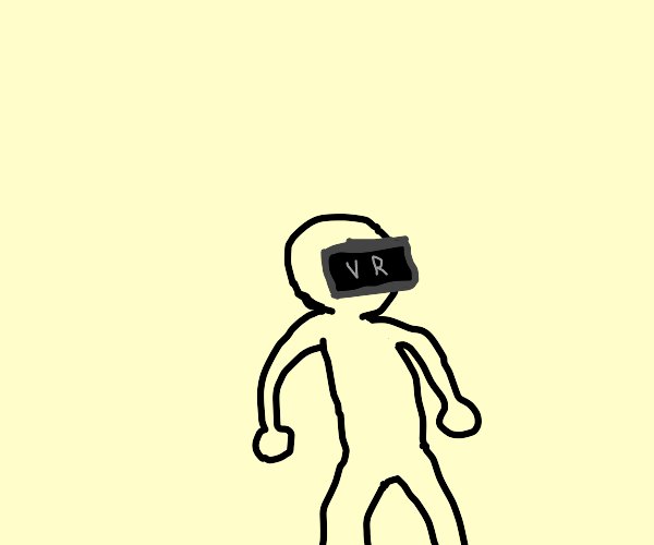 Dude with no clothes plays VR