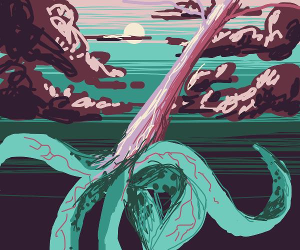 creepy octopus tentacle tree