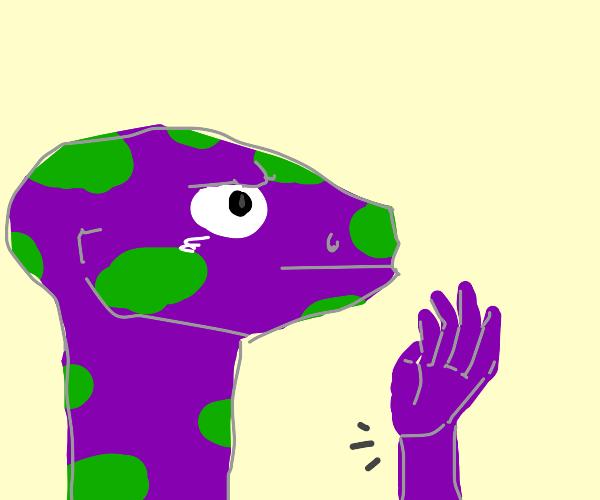 dragon gets a wrist cramp