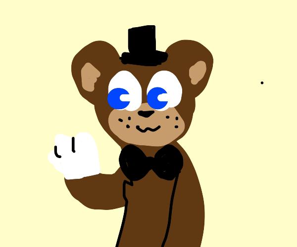Bear wearing Gloves