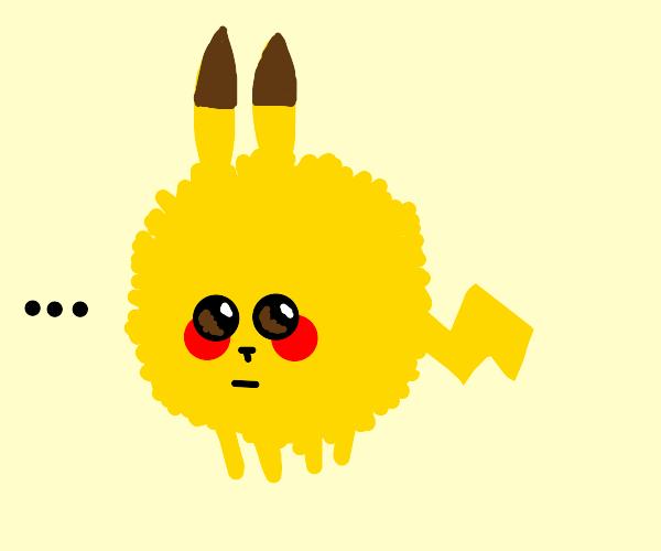 A Pikachu was put through the dryer.