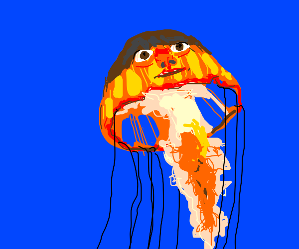 Jellyfish with a face