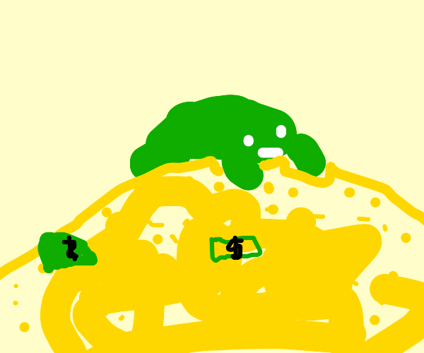 Green frog has a bunch of money and gold!